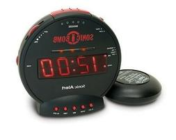 Alarm Clock Sonic Boom Wake Up Alert Loud Bed Vibrating Dual