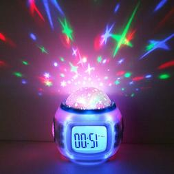 Alarm Clock Starry Star Projection Clock Color Change Light