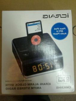 ICRAIG ALARM CLOCK STEREO RADIO IPOD MP3 & AUDIO PLAYER UNIV