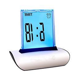 zorvo Digital Alarm Clock Small Table Desk Clock 7 LED Color
