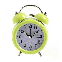 Alarm Clock Vintage Double Bell Table Battery Operated No Ti