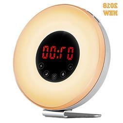 Wake-up Light Alarm Clock, Hotweild Sunrise Sunset Simulator
