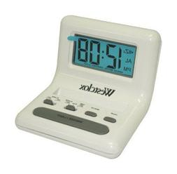 Westclox Travel Alarm Clock White 2 Aaa Batteries