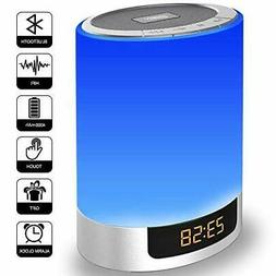 Alarm Clock with Bluetooth Speakers, Kids Night Light Touch
