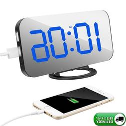 Alarm Clock with Dual USB Charging Port for Home Decor Bedro