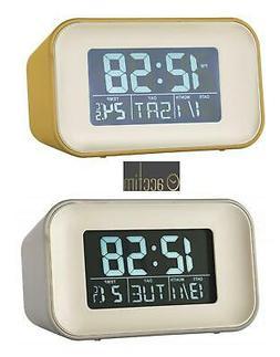 Alarm Clock with Indoor Temperature from ACCTIM - Grey or Mu