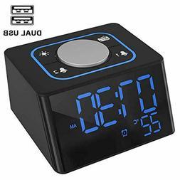 Alarm Clock with USB Charger FM Radio Clock, Digital LED Dis