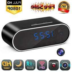 Alarm Clock With Wireless 1080P Hidden Spy Camera IR Cam DVR