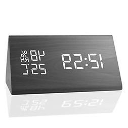 MEKO Digital Alarm Clocks for Bedrooms, with 3 Alarm Sets, 3