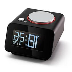 Homtime Bedside Alarm Clocks with Dual USB Charging Port for