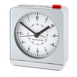 Alarm Clocks MARATHON CL030053SV Analog Desk Alarm Clock Wit