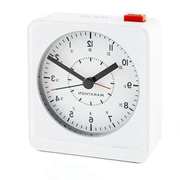 Alarm Clocks MARATHON CL030053WH Analog Desk Alarm Clock Wit