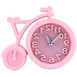 Alarm Clocks Cute For Girls/Teens Pink With Silent Quartz Mo