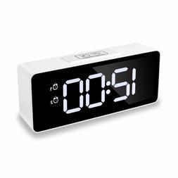 "Alarm Clocks for Bedrooms, Shayson 6.5"" LED Display Clocks w"
