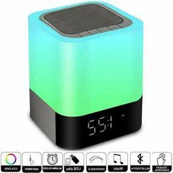 alarm clocks for bedrooms wireless bluetooth speaker