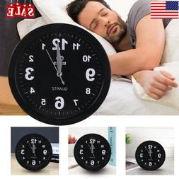 Alarm Clocks Silent Wall Smooth Sweeping Quartz Watch Hangin