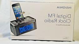 Insignia AM/FM Alarm Clock Radio with iPhone 5 Dock Plays Mu