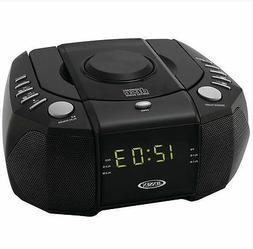 Jensen AM FM CD Clock Radio Dual Alarm Auxiliary Audio Input