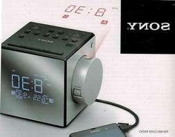 Sony AM FM Cube Alarm Clock Radio with Time Projection Clock