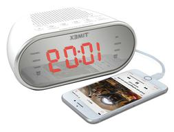 TIMEX AM/FM Dual Alarm Clock Radio with Aux Input - NIB - Se