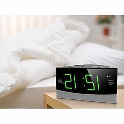 AM FM Dual Radio Digital Alarm Clock With LCD Display Snooze