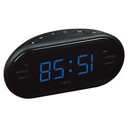 Elong Large LED Digital AM FM Radio Alarm Clock Desk and She