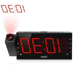 OnLyee Projection Clock with AM/FM Radio, Sleep Timer, Bedro