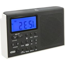 Am Fm Radio, Black Am/fm/sw Alarm Clock Portable Bluetooth D