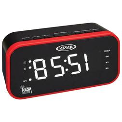 Jensen JEP-150 AM/FM Band Clock Radio with Weather Alert