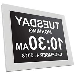 American Lifetime - Day Clock - Extra Large Impaired Vision