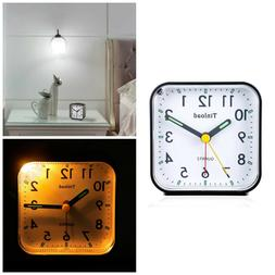Analog Alarm Clock Battery Operate Light Function Silent Non