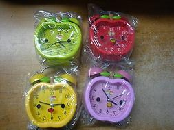 Analog Alarm Clock  Indicates Hours Minutes  Color:  Red Gre