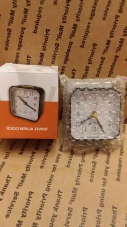 Travelwey Analog Alarm Clock, No Ticking, Alarm, Snooze, Bla
