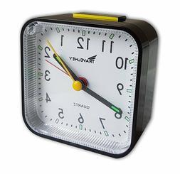 analog alarm clock no ticking alarm snooze