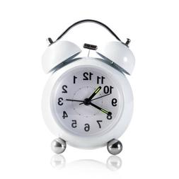 Analog Alarm Clock Vintage Retro Classic Bedroom Bedside Bat