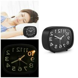 Analog Alarm Clock With Night Light 3 Inch Quartz Silent No