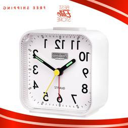 Analog Alarm Clocks For Bedrooms Non Ticking Battery Operate