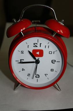 Analog Red Twin Bell Alarm Clock with Backlight and LOUD Ala