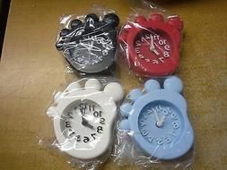 Analog Travel Alarm Clock  Indicates Hours Color:  Black  Wh