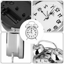 analog twin bell alarm clock vintage retro