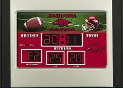 Arkansas Razorbacks Logo Digital Scoreboard Alarm Clock