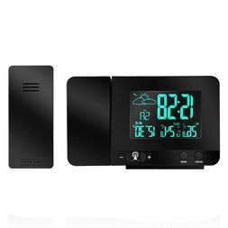 Atomic LED Projection Alarm Clock Digital Radio Controlled D