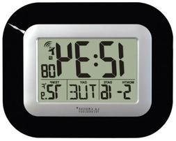 La Crosse Technology Digital Atomic Wall Clock, Black, 1 ea