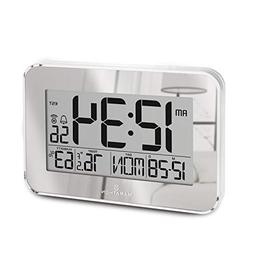 Marathon Atomic Wall Clock with Alarm, Snooze, Table Stand a