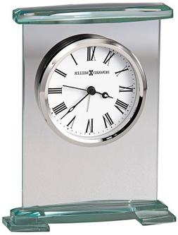 Augustine Table Top Clock w Bevel Glass Base and Top