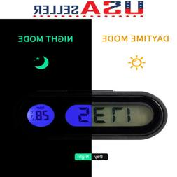 auto digital led electronic time clock thermometer