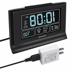 auto set digital alarm clock usb charging