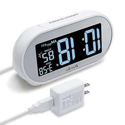 DreamSky Auto Time Set Alarm Clock with Snooze and Dimmer
