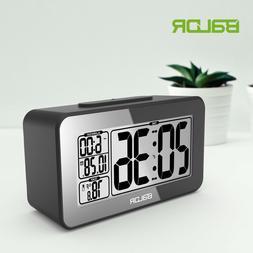 BALDR B0326 Digital Table Alarm Clock LCD Temperature Displa