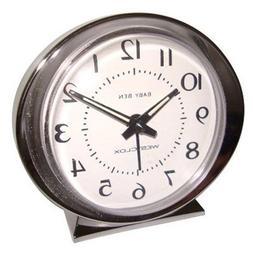 Baby Ben Classic Key-Wound Silvertone Alarm Clock By: WESTCL